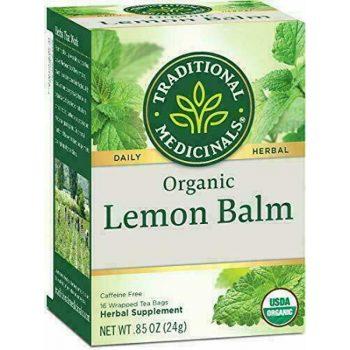 tradional medicinals organic lemon balm tea